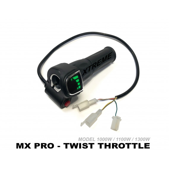 XTREME ELECTRIC XTM MX-PRO 36V / 48V REPLACEMENT TWIST THROTTLE AND BATTERY METER