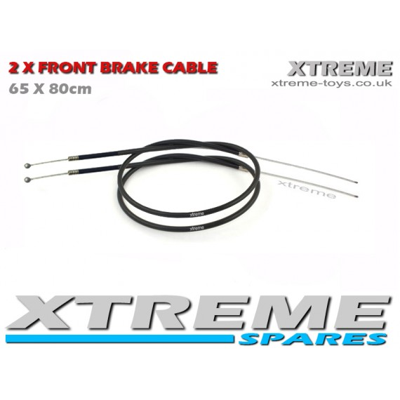 MINI NITRO QUAD 2 X FRONT BRAKE CABLE 65 X 80cm