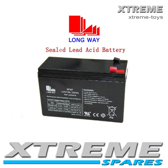 SEALED LEAD ACID RECHARGEABLE BATTERY 12V 7AH CHILDREN'S TOY RIDE ON VEHICLES