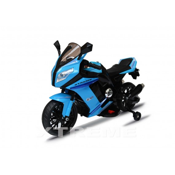 12v Xtreme Electric Motorbike Ride on Road Bike in Blue