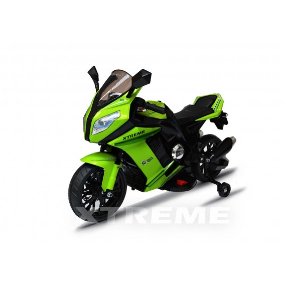 12v Xtreme Electric Motorbike Ride on Car in Green