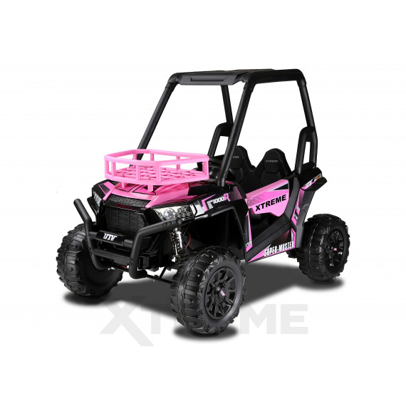 Xtreme BIG 24v Ride on Buggy Off Road UTV Two Seater Jeep With Roll Cage Pink