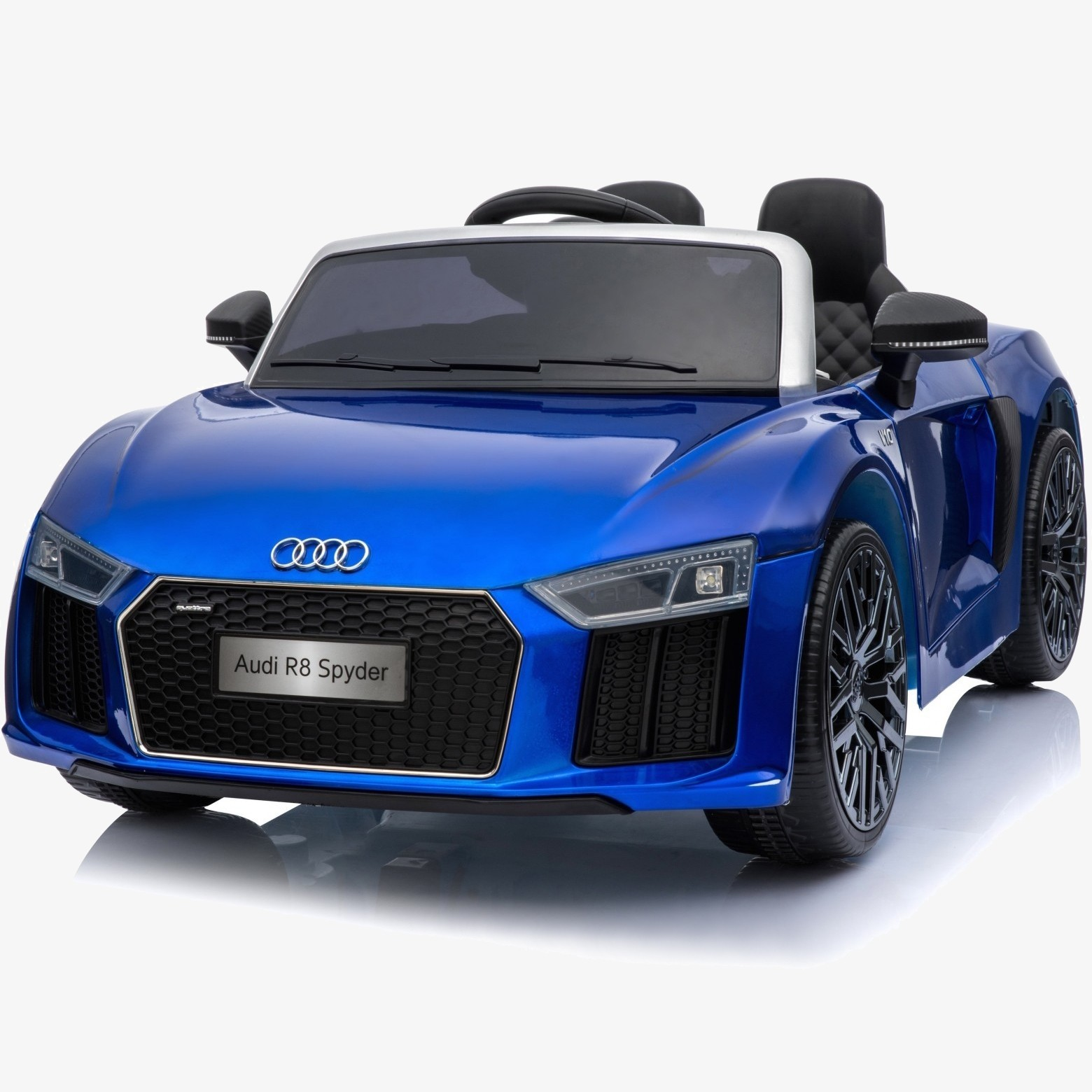 Xtreme 12v Official Licensed Audi R8 Spyder Ride on Car Blue Double Headrest
