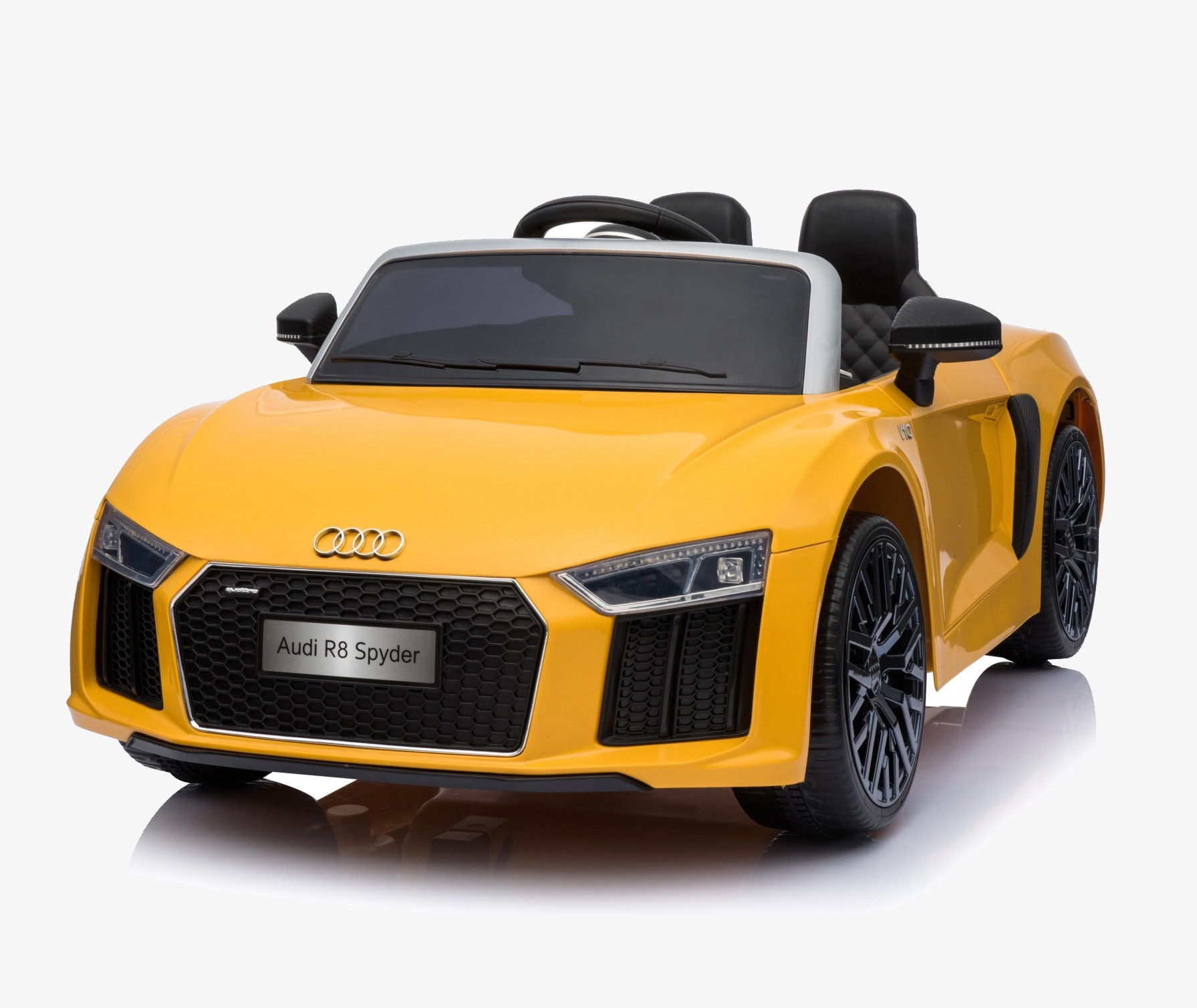 Xtreme 12v Official Licensed Audi R8 Spyder Ride on Car Yellow Double Headrest