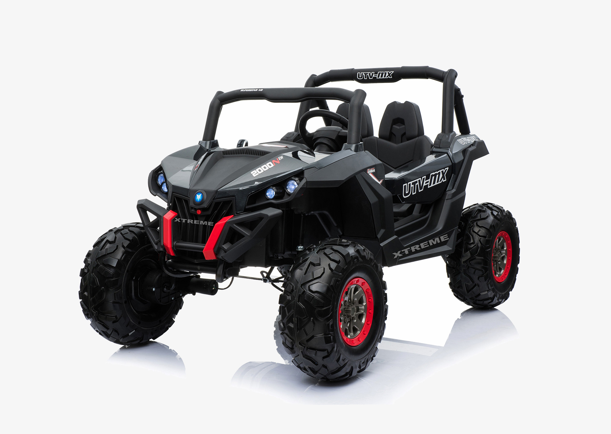 Xtreme 2018 BIG 24v Ride on 4x4 Jeep Carbon Fiber Black