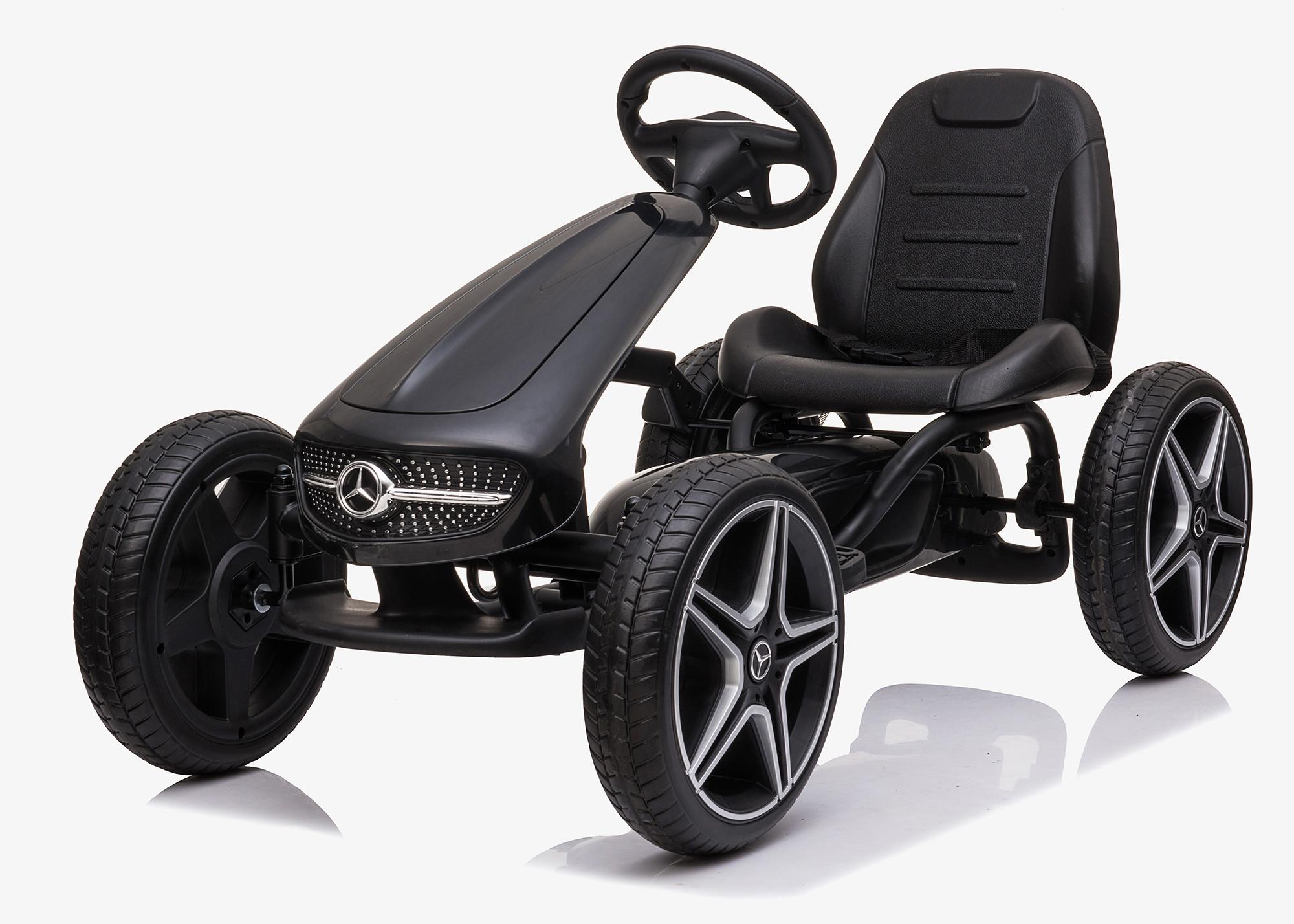 Xtreme Kids Official Licensed Mercedes Benz Go Kart with Hand Brake in Black