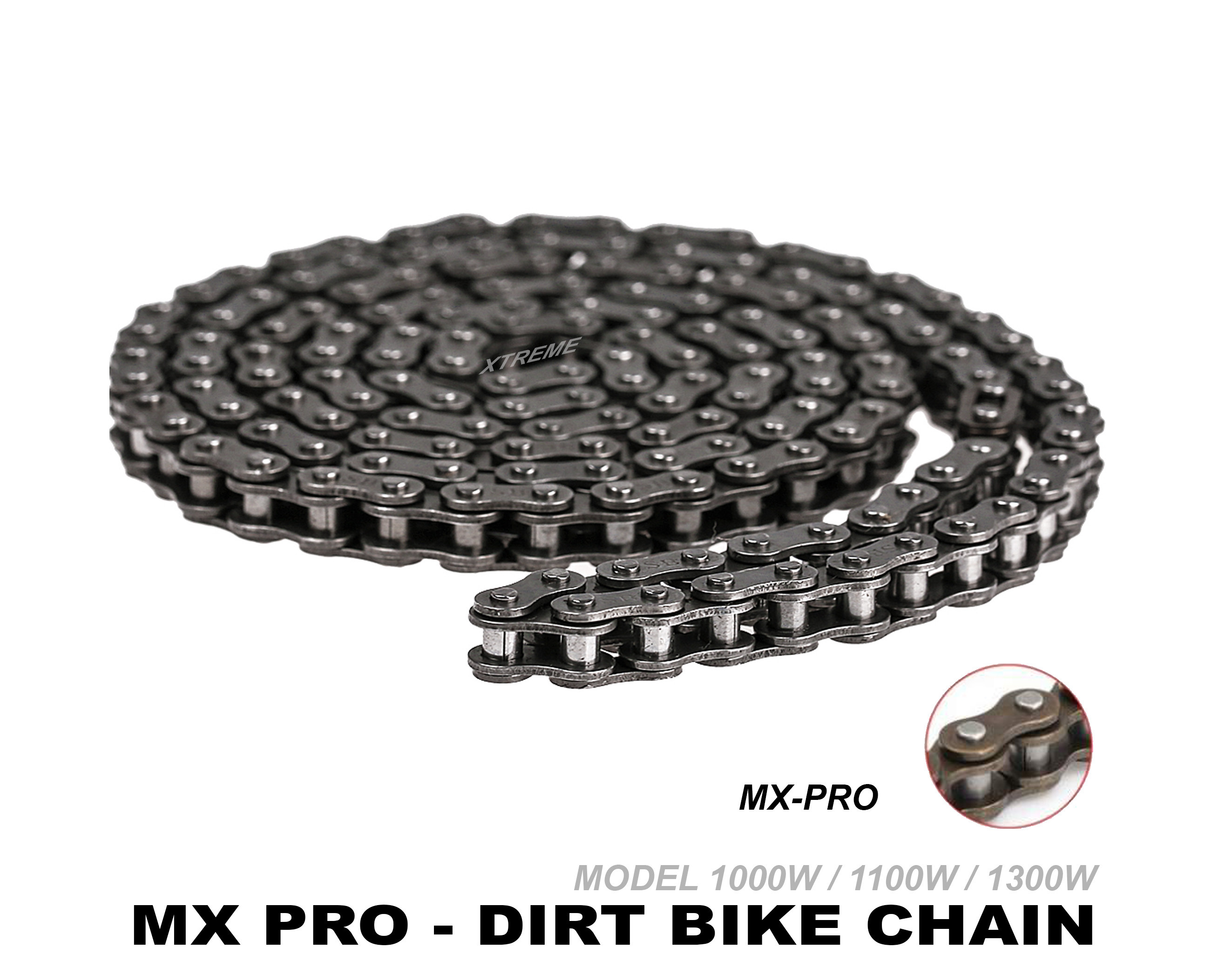 XTREME ELECTRIC XTM MX-PRO 36V REPLACEMENT 6MM CHAIN 219-116 LINKS