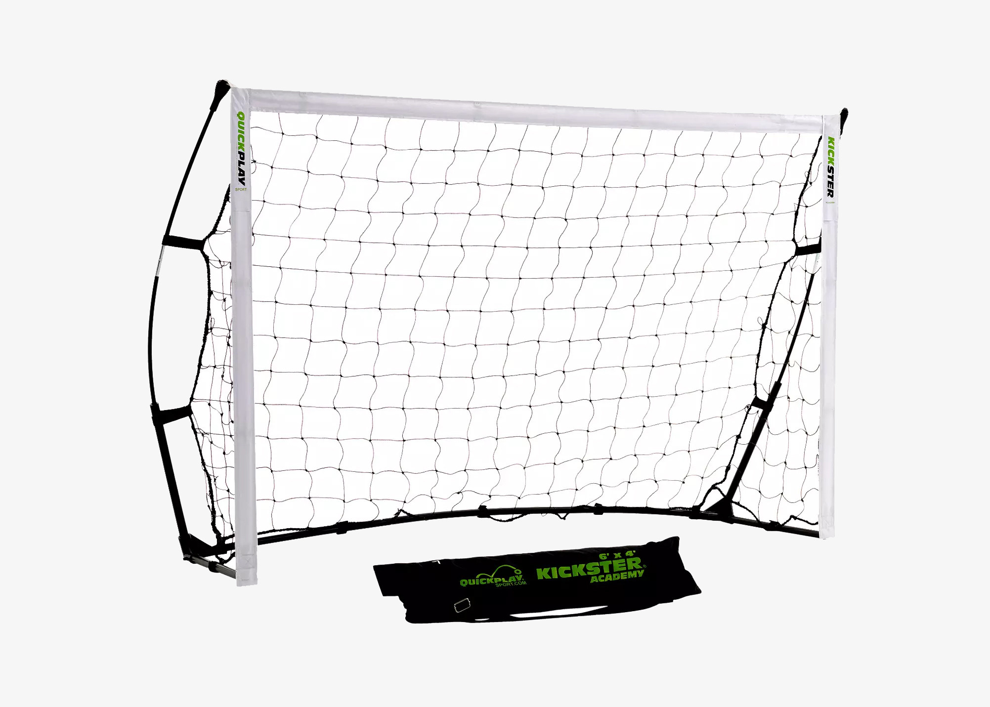 QuickPlay Kickster Academy Ultra-Portable 6' x 4' Football Goal Black