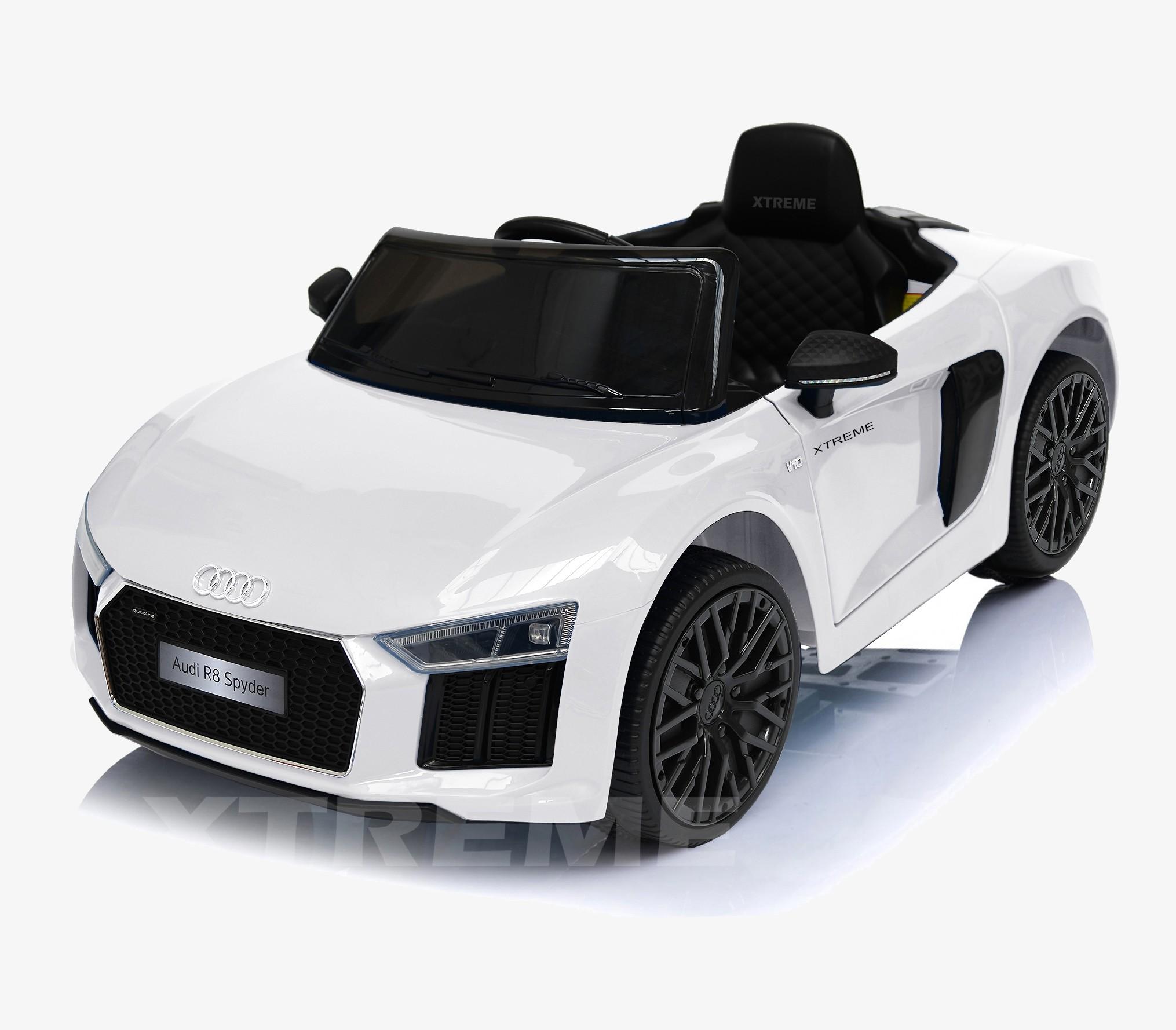 Xtreme 12v Official Licensed Audi R8 Spyder Ride on Car White Single Headrest