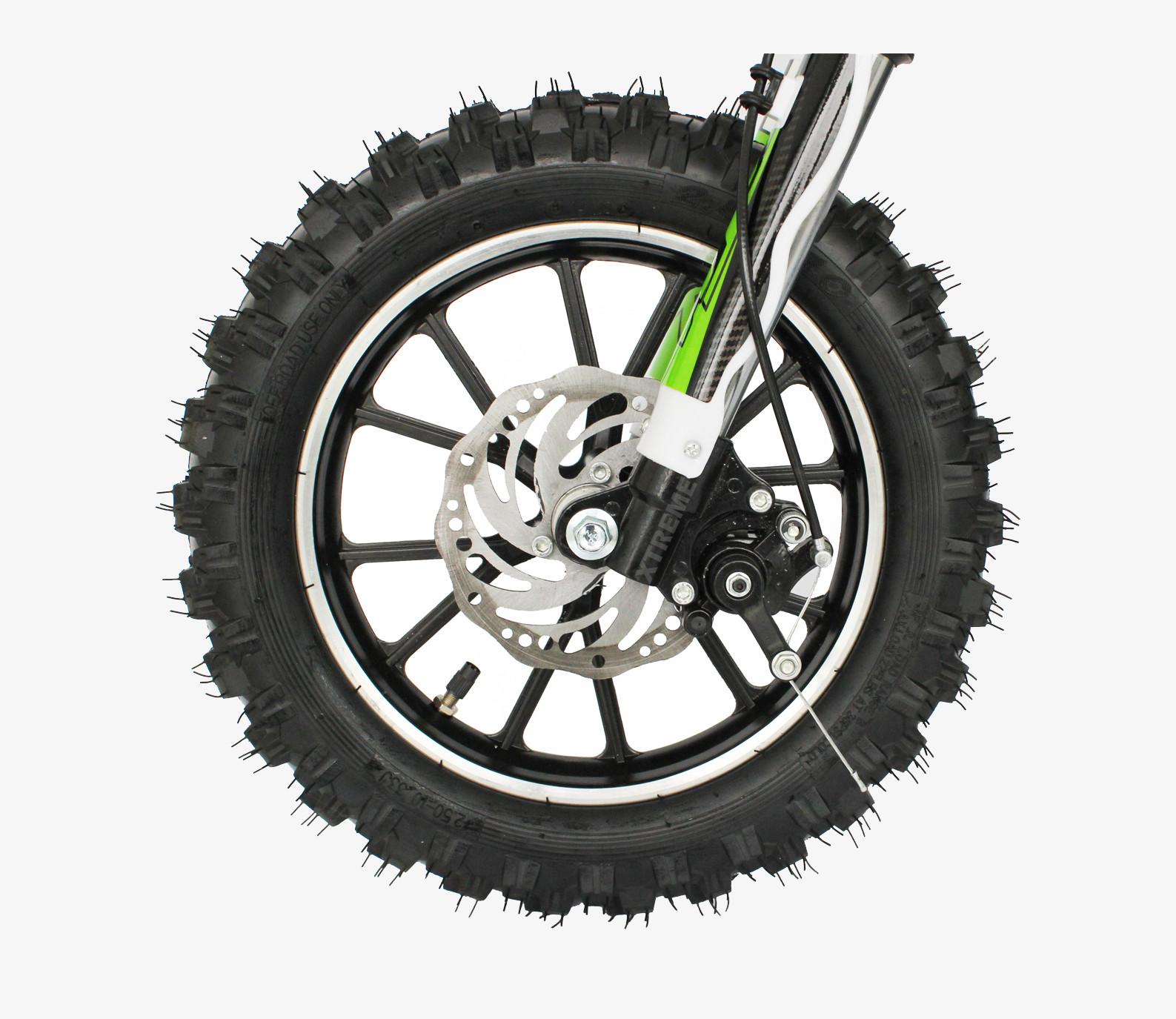 MINI DIRT BIKE XTM MOTOR BIKE COMPLETE FRONT WHEEL