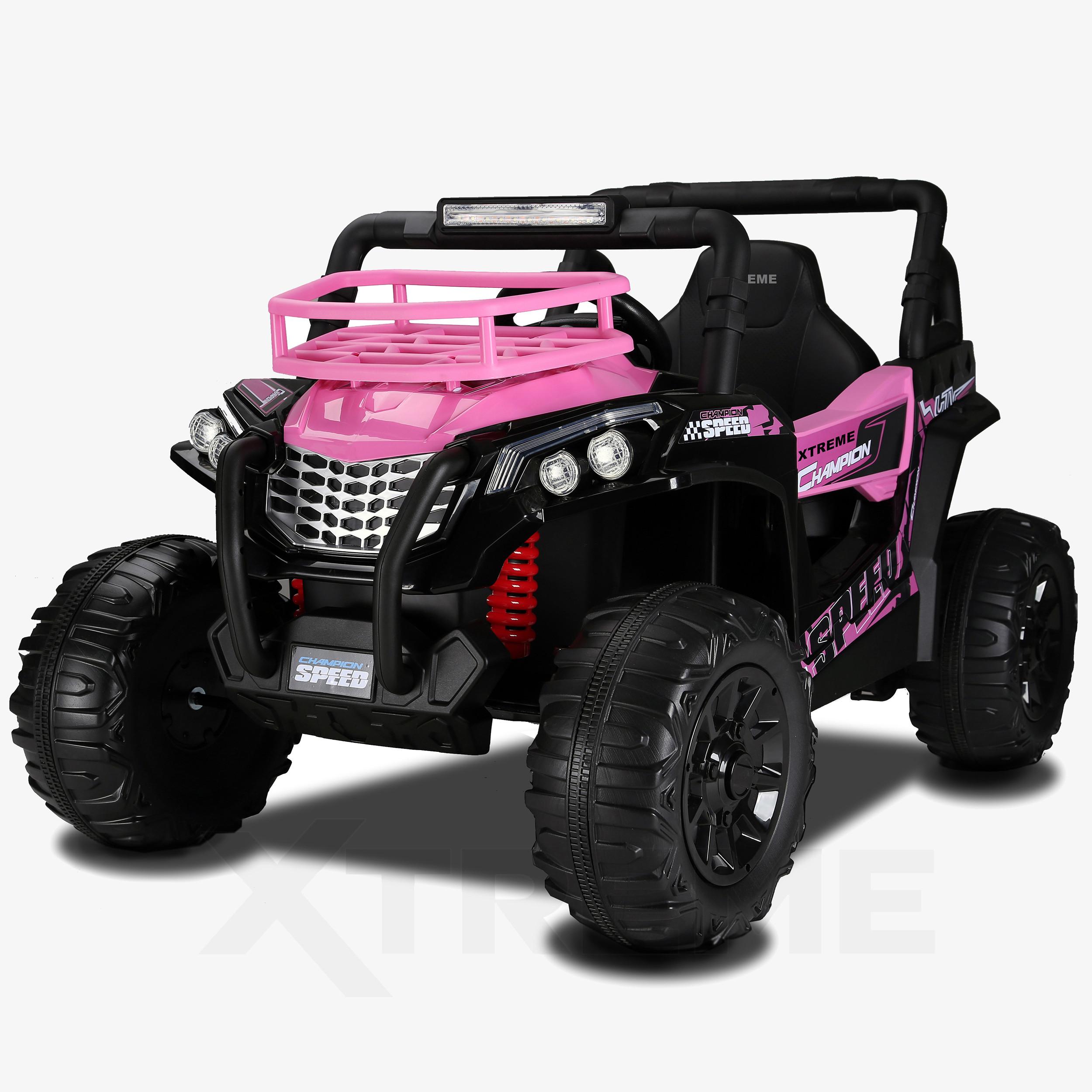 Xtreme BIG 12v Ride on Buggy Off Road UTV Jeep Pink