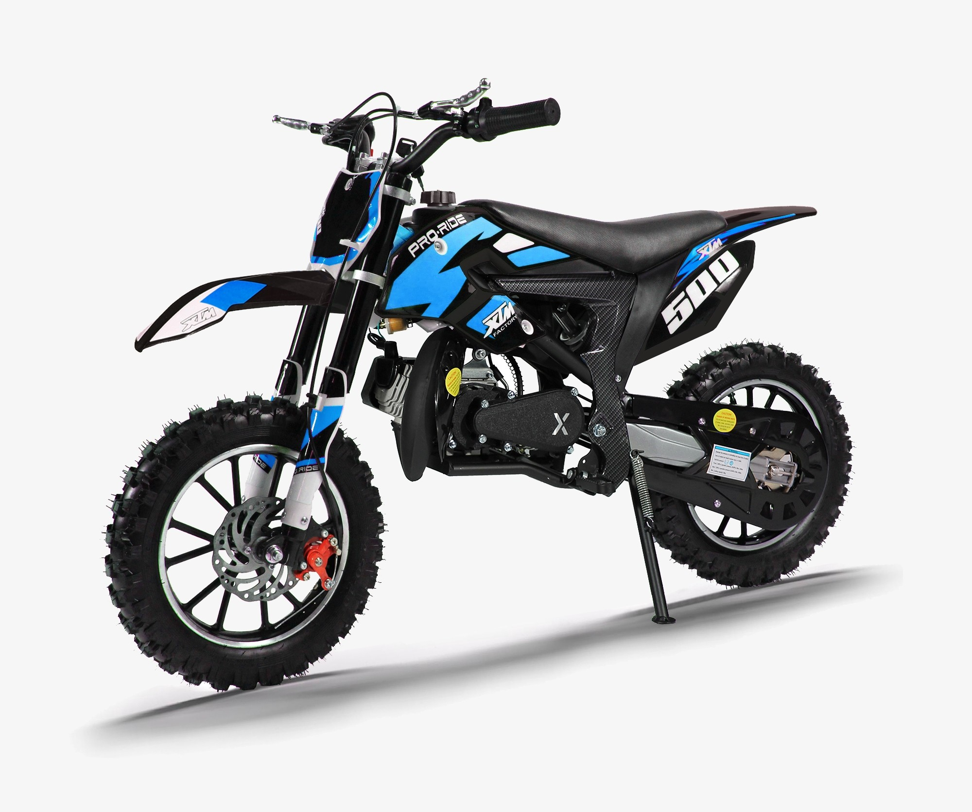 XTM PRO-RIDER 50cc DIRT BIKE BLACK BLUE