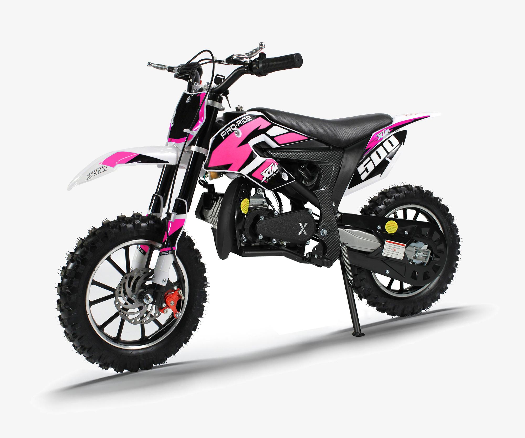 XTM PRO-RIDER 50cc DIRT BIKE BLACK PINK
