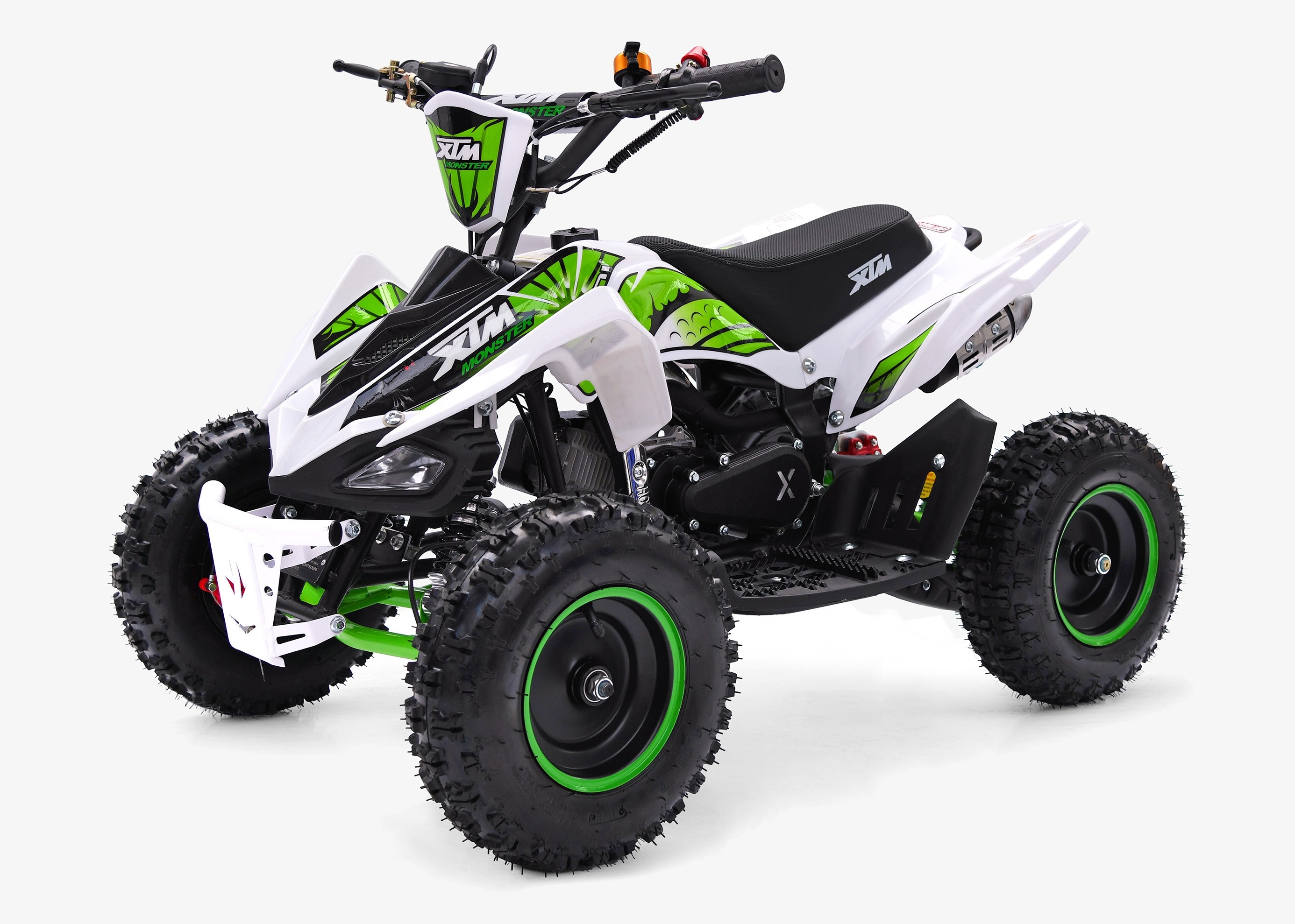 XTM MONSTER 50cc QUAD BIKE WHITE GREEN