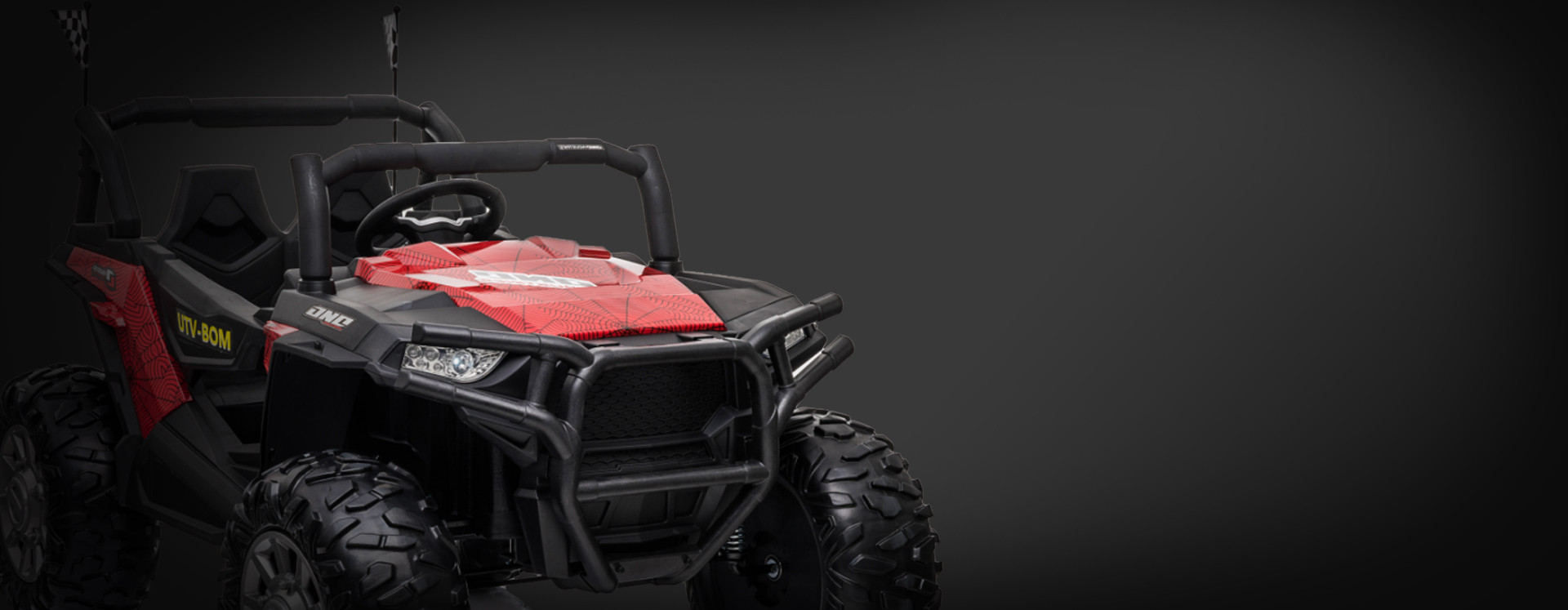 Xtreme BIG 24v Ride on Buggy Off Road UTV Jeep Painted Spider Red