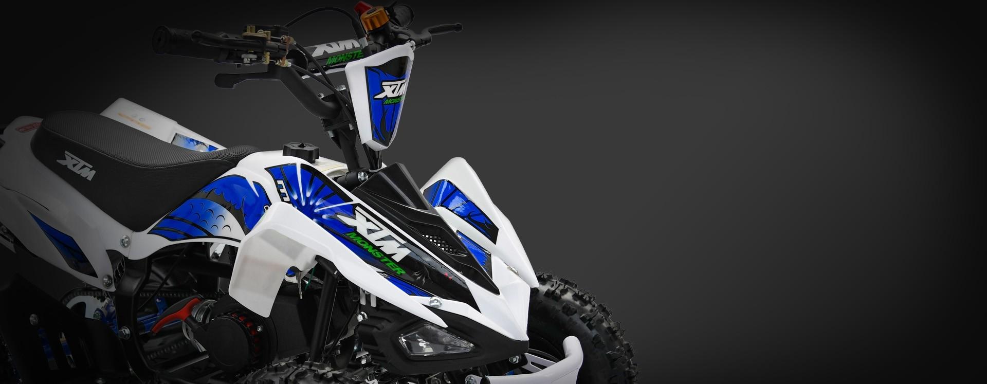 XTM MONSTER 50cc QUAD BIKE WHITE BLUE