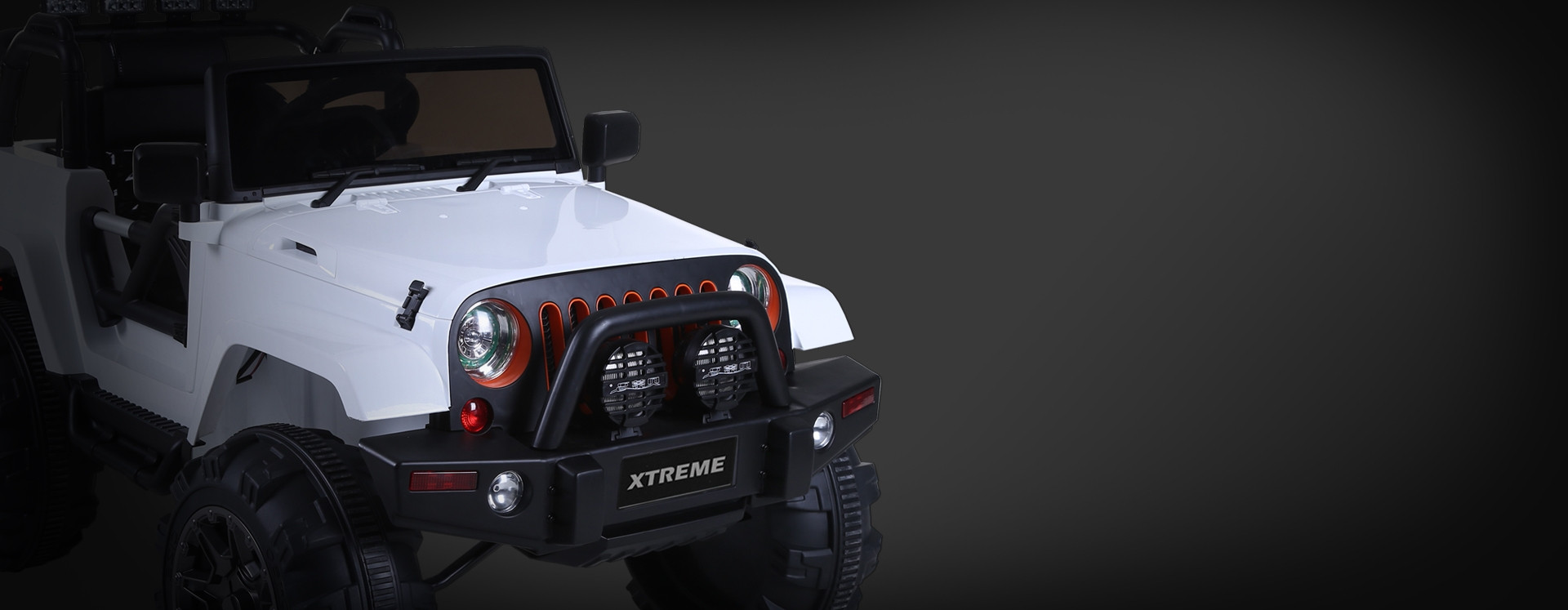 Xtreme 12v Ride on SUV Jeep With Open Doors Red