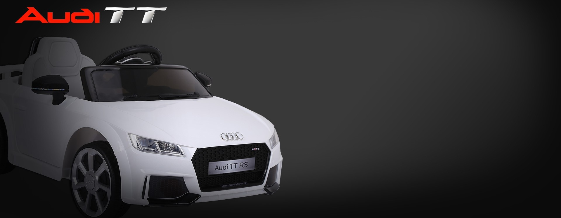 Xtreme 12v Official Licensed Audi TT RS Ride on Car in White