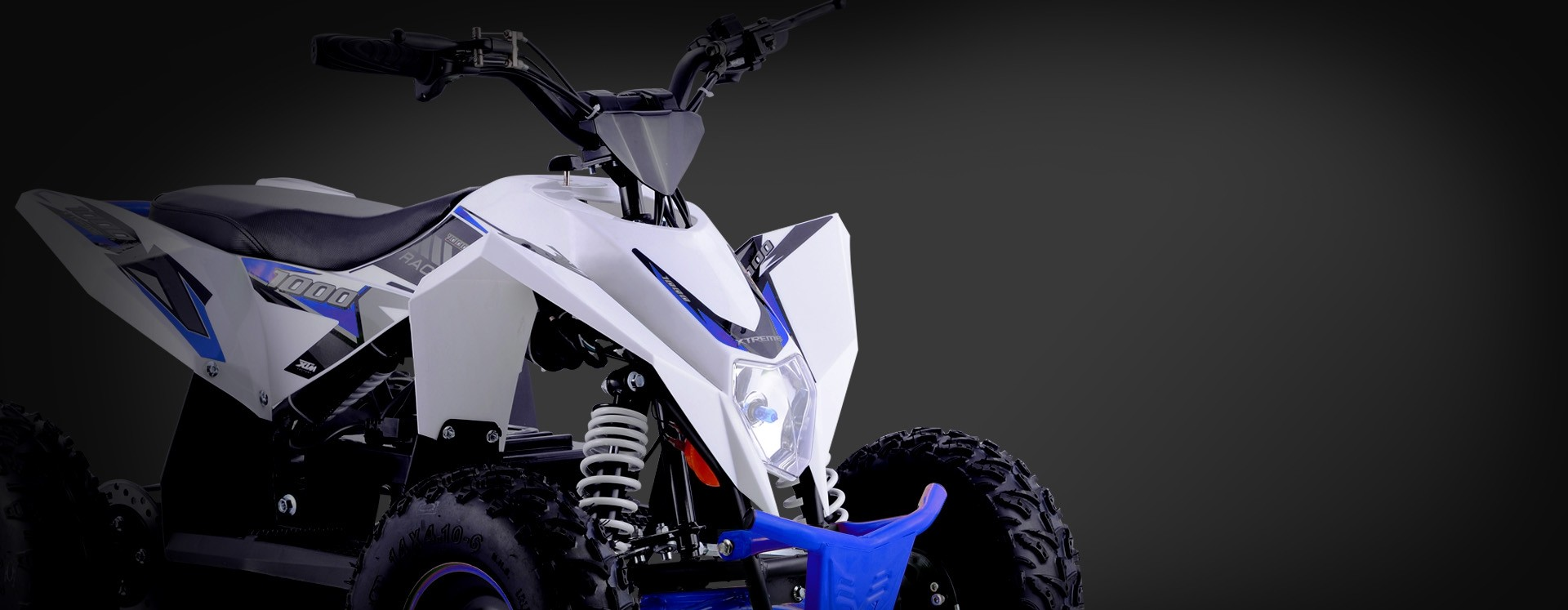 XTM RACING 1000w QUAD BIKE WHITE BLUE