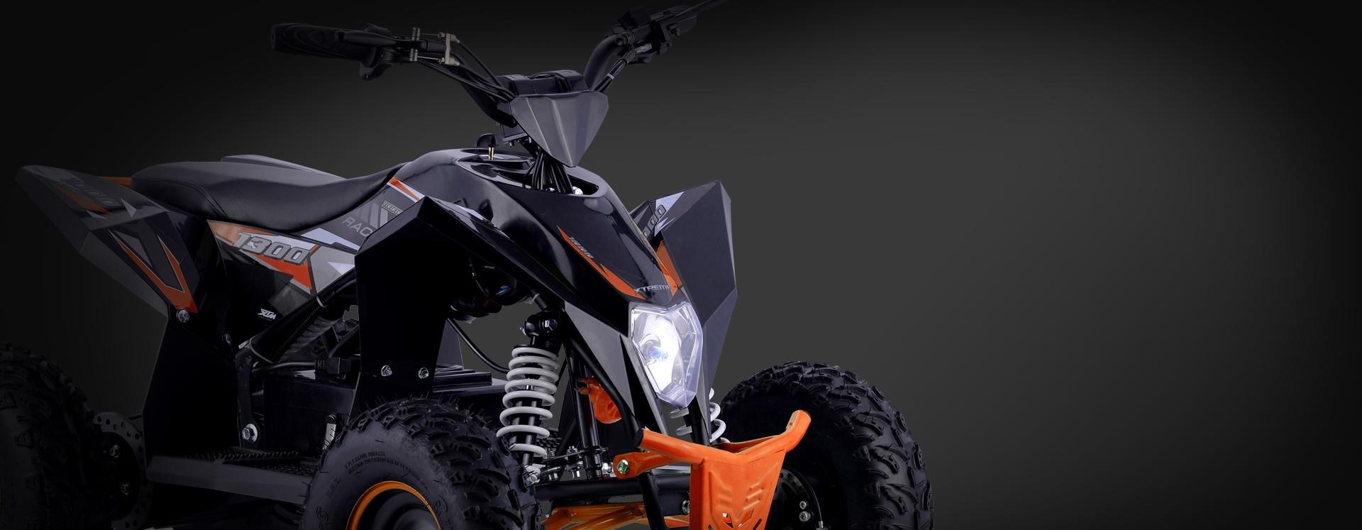 XTM RACING 48v 1300w LITHIUM QUAD BIKE BLACK ORANGE