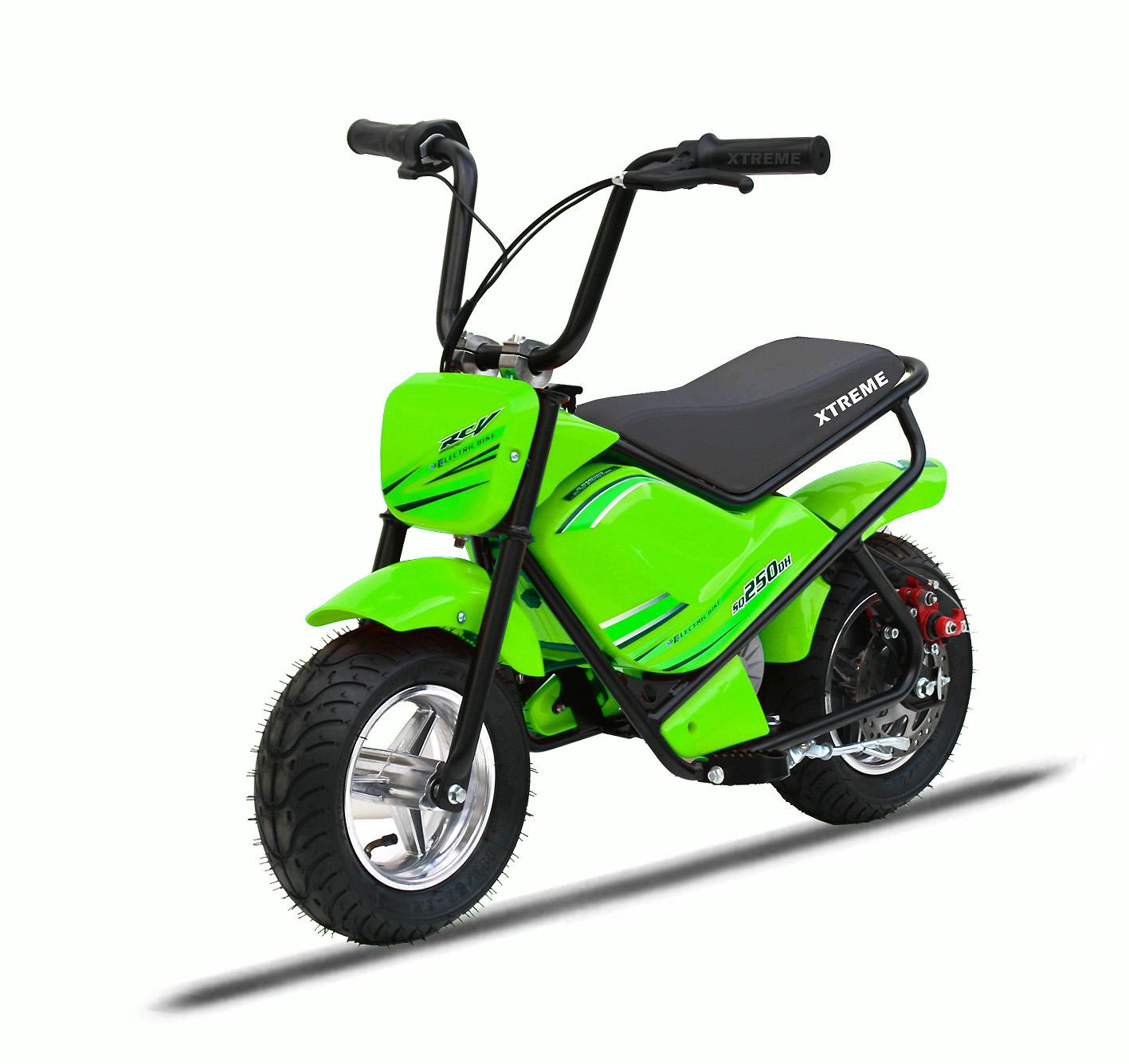 Xtreme 250w Funbike In Green Fun Bikes Xtreme Toys